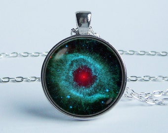 Necklace galaxy Nebula Helix Nebula jewelry Nebula pendant Space jewellery Nebula necklace Galaxy jewelry Solar system Universe Stars Gifts