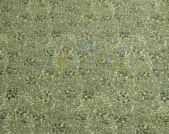 Elements-Green Cotton Fabric from Henry Glass
