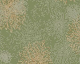 Floral Elements - Dusty Olive (FE-509) Art Gallery Fabrics Cotton Fabric Yardage