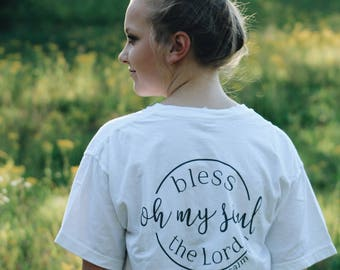 Bless the Lord Pocket Tee - christian shirt - jesus shirt - faith shirt