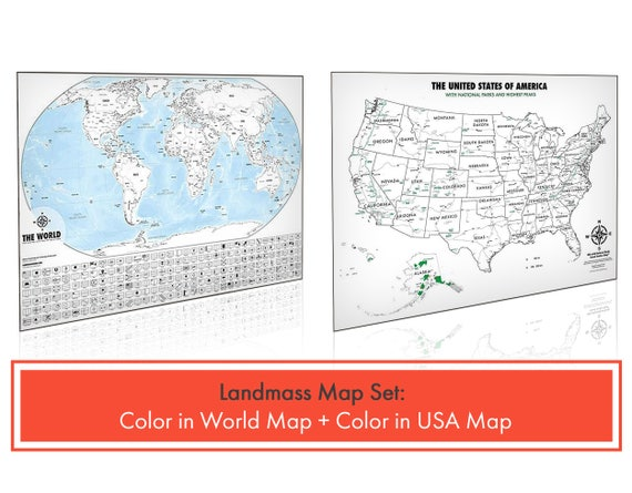 Color In Travel Tracker Maps World Color In Map USA - Us map travel tracker