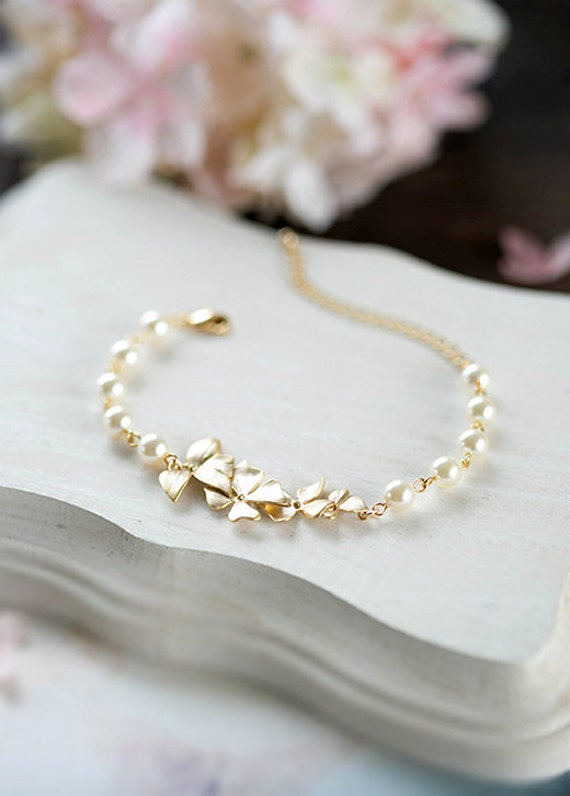 BUTTERFLY PEARL 30TH Birthday Bracelet-IVORY-9