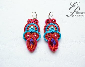 Colorful soutache earring