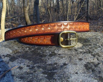 Hand-Tooled Leather Belt