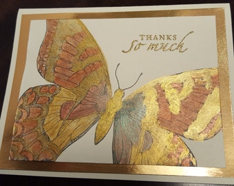 Shimmering Butterfly Thank You Card TY5