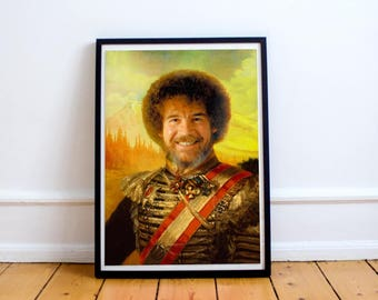 Bob Ross Classic Painting Photoshop Poster 5x7 8x10 12x16 13x19 18 x 24