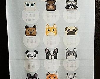 Fabric calendar wall hanging