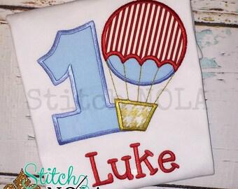 Hot Air Balloon Birthday Shirt or Bodysuit