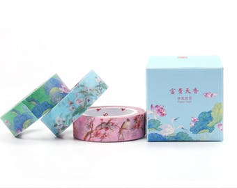 Forbidden City Washi Tape - Flowers & Birds Set