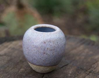 Miniature Ceramic Vase- Violet