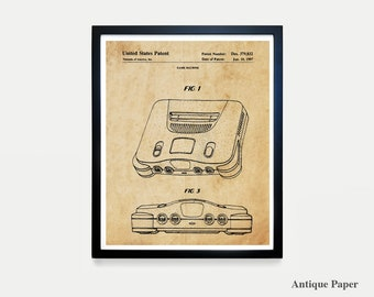 Nintendo  Poster - Video Game Art - Video Game Poster - Video Game Controller - Video Game Wall Art - Nintendo Patent - Nintendo Controller