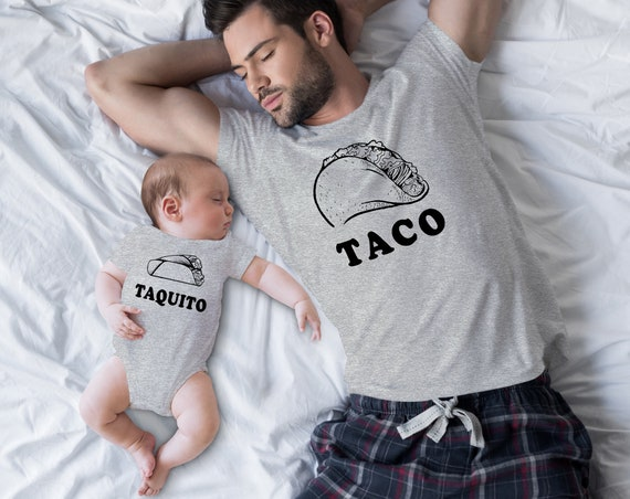 Taco and Taquito Matching-Father and Son Tee and Onesie