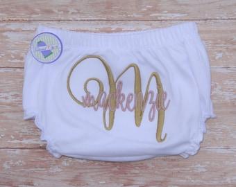 Personalized Diaper Cover - Girls Diaper Cover - Personalized Bloomers - Girls Bloomers - Monogrammed Diaper Cover - Monogrammed Bloomers