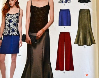 Skirt, Pants, and Camisole Sewing Pattern New Look 6328 Misses'  Floor Length skirt Size 8-18 Bust 31-44 inches Complete UNCUT