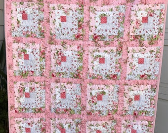 Quilted, Hand Crafted Baby's Quilt-Home Furnishings-Bedding-One of a Kind