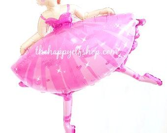 "Ballerina balloon 35"". Huge ballerina balloon. Ballet party. ballet balloons. ballerina balloons. dance party. dance school. dance"