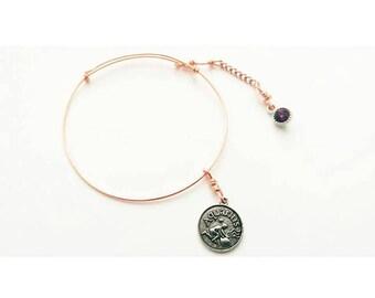 Copper Aquarius Bracelet