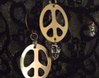 Peace Head Earrings