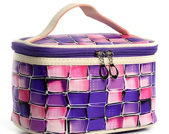 Plaid Cosmetic Bag | Makeup Bag, Travel Bag, Accessories Bag