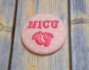 NICU Baby Feet Badge Reel Slide Clip or Swivel Clip - Id Holder- Retractable