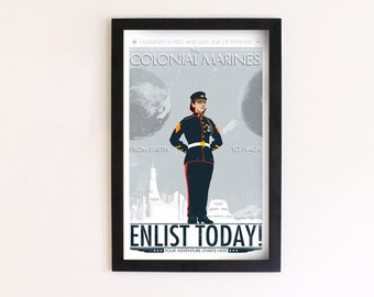 Colonial Marines Recruitment Print