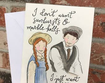 Anne of Green Gables Greeting Card