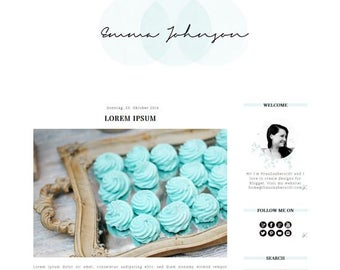 Blogger Template: Emma Johnson