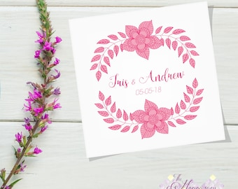 Predesign Monogram Logo Personalized Wedding, Floral Design, Invitations, Save The Date, Exclusive Stationery, Badge, Label