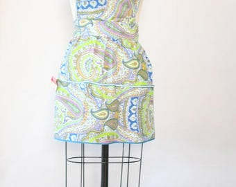 NWT vintage paisley psychedelic apron 1970s