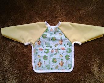 Waterproof Long-Sleeve Baby Bib / Smock