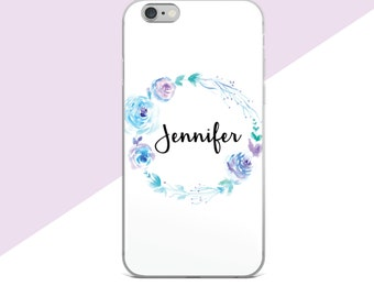 Personalized Phone Case, Custom Phone Case, Samsung Galaxy S8 Case, Flower Phone Case, iphone 7 Plus Case Floral, Samsung Galaxy S7 Case