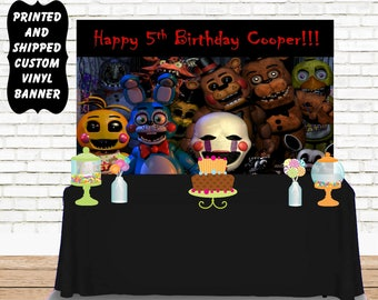 Five Nights at Freddy's Birthday Vinyl Banner