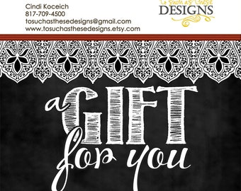 Gift Card: To Such As These Designs