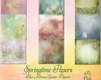Springtime Papers With Bonus Easter Papers