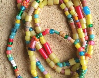 Large African glass Christmas trade beads, Christmas beads, Africa