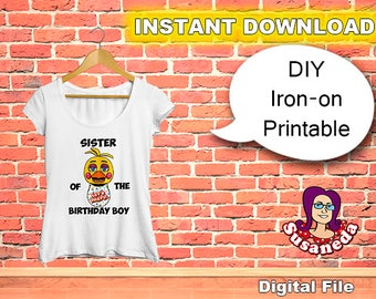 DIY PRINTABLE FNAF Iron on Transfer, 5 Nights at Freddys Iron on Transfer, Animatronics Iron on Transfer