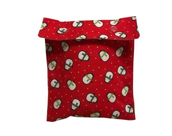 Holiday Penguins Project Bag Notions Pouch