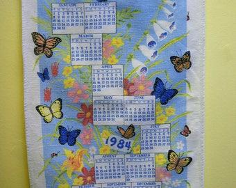 Kitschy 1984 Calendar Towel