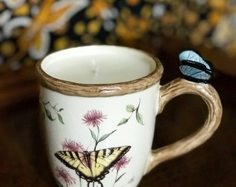 Butterfly Mug Candle
