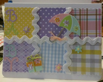 Baby Shower card.  Could be for a shower when you don't know if the new baby is a boy or girl!