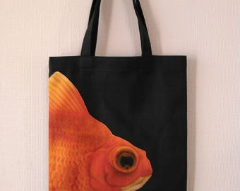 Goldfish Print plump bag