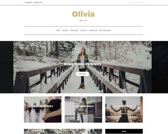 "Bold Wordpress Theme - ""Olivia"" | Responsive WordPress Theme - Wordpress Template - Fashion Lifestyle Blog - Custom Theme Options"