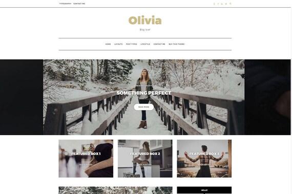 Tema de Wordpress en negrilla Olivia Sensible