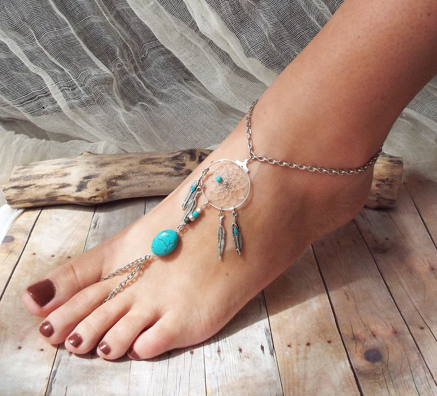 image ankle daisy loading flower bracelet s catcher gem magnetic hematite is turquoise itm dream anklet