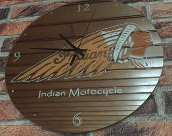 Indian motorcycle mirror clock.