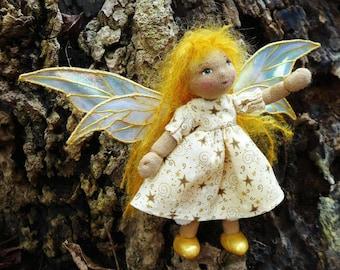 Starlight Fairy - A Miniature Waldorf Doll
