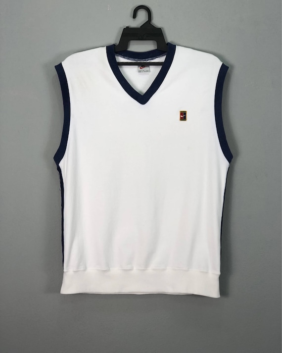 Vintage Nike Pete Sampras Shirt Mens Streetwear Activewear Tennis Clothing Soft Cotton Materials White Color Medium Size On Tags Chest 20 wKUZ8