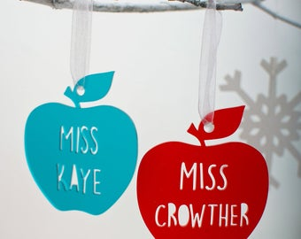 Teacher thank you Christmas tree decoration/bauble