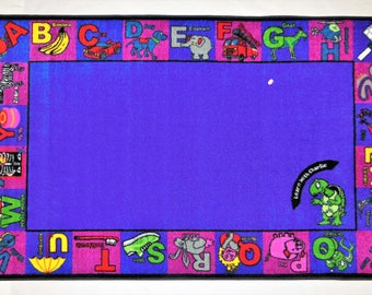 Alphabet Charlie Children's Educational Printed Rug 5' x 8' item #1002