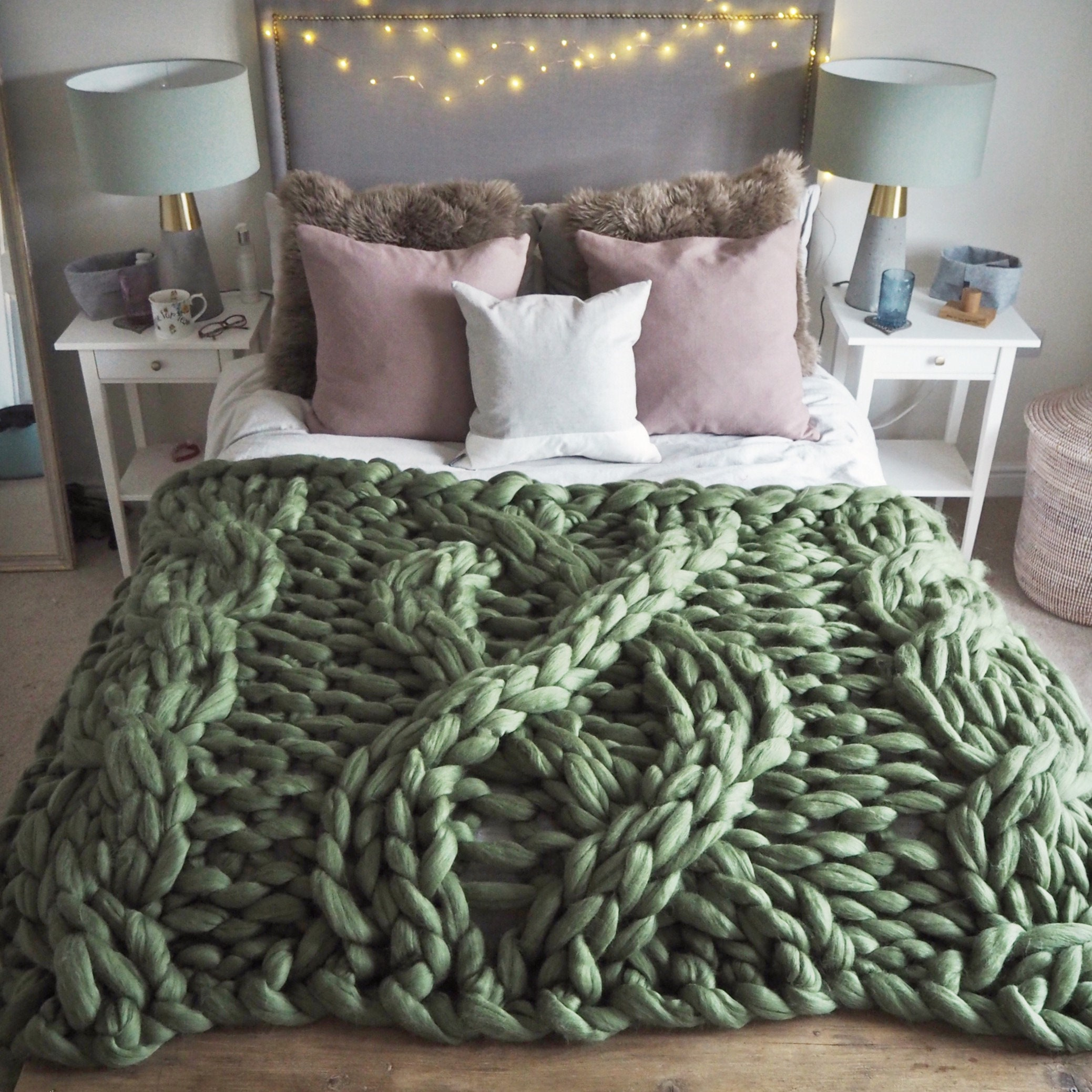 zoom Giant Cable Knit Blanket Chunky Knit